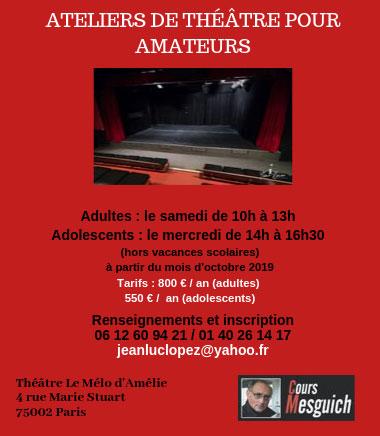 Atelier de théâtre pour amateurs